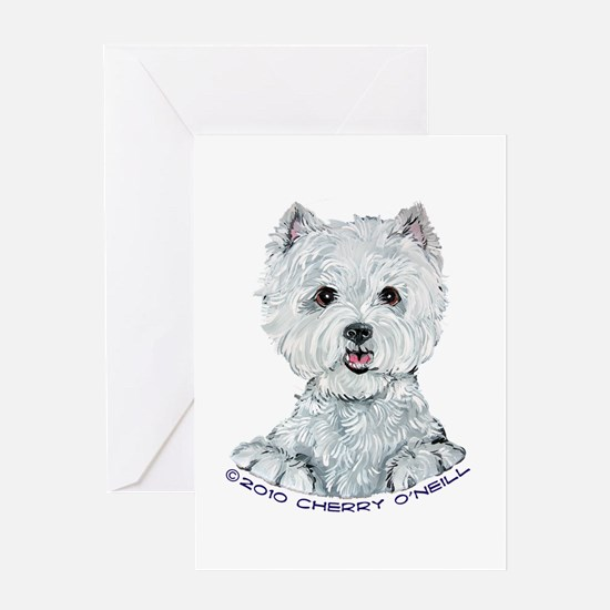 Lovable Westie Greeting Card