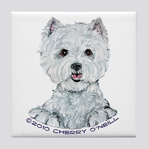 Lovable Westie Tile Coaster
