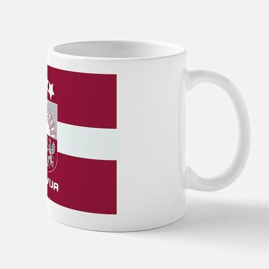 Latvia (Latvija) Crest Mug