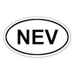 Nevis NEV Sticker (Oval)