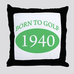 1940 Born To Golf Throw Pillow