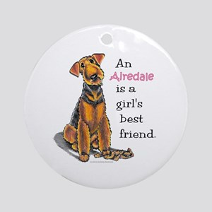 Airedale Terrier Lover Ornament (Round)
