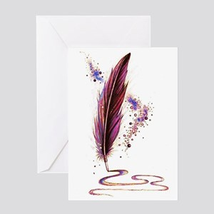 Magical Quill Greeting Cards