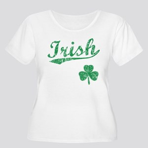 Irish Sports Style Women's Plus Size Scoop Neck T-