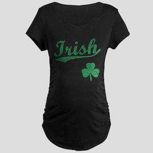Irish Sports Style Maternity Dark T-Shirt