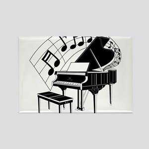 Grand Piano Notes Rectangle Magnet