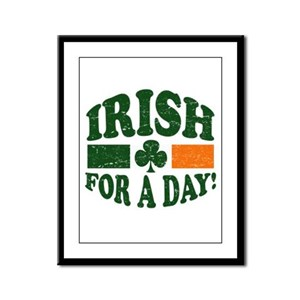 Irish For A Day Framed Panel Print