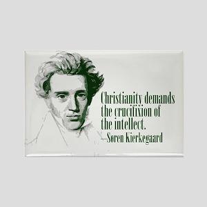 Kierkegaard on Christianity Rectangle Magnet