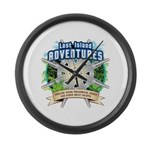 Lost Island Adventures Large Wall Clock