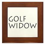 GOLF WIDOW Framed Tile