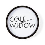 GOLF WIDOW Wall Clock