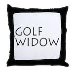 GOLF WIDOW Throw Pillow