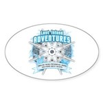 Lost Island Adventures Sticker (Oval 10 pk)