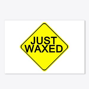 Just Waxed Postcards (Package of 8)
