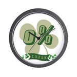 0% Irish Wall Clock