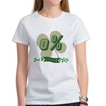 0% Irish Women's T-Shirt