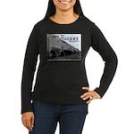 Sunset District Women's Long Sleeve Dark T-Shirt