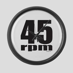 45 RPM Large Wall Clock