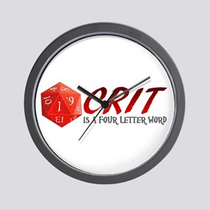 Four Letter Crit Wall Clock