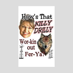 Killy Drilly Sticker (Rectangle 10 pk)