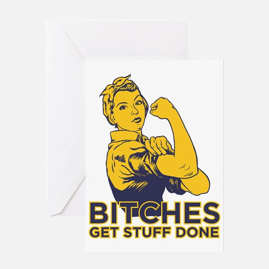 Bitches Greeting Card