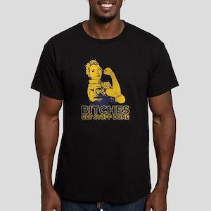Bitches Men's Fitted T-Shirt (dark)