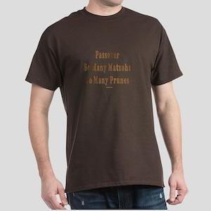 Matzoh and Prunes Passover Dark T-Shirt