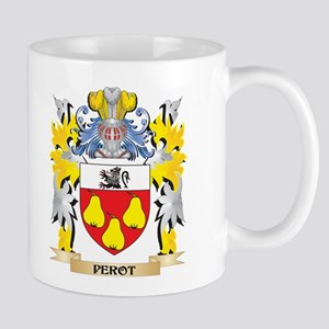 Perot Family Crest - Coat of Arms Mugs