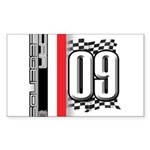 Race Flags M Sticker (Rectangle 50 pk)