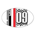 Race Flags M Sticker (Oval 10 pk)