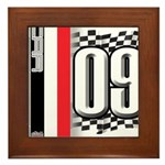 Race Flags M Framed Tile