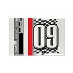 Race Flags M Rectangle Magnet (100 pack)