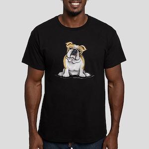 Cute English Bulldog Men's Fitted T-Shirt (dark)