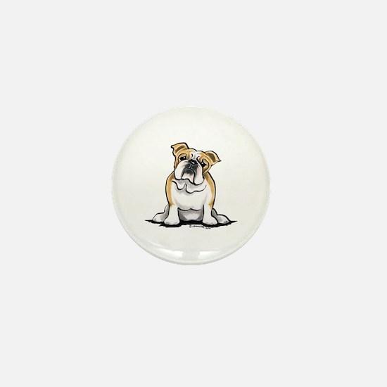 Cute English Bulldog Mini Button