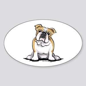 Cute English Bulldog Sticker (Oval)