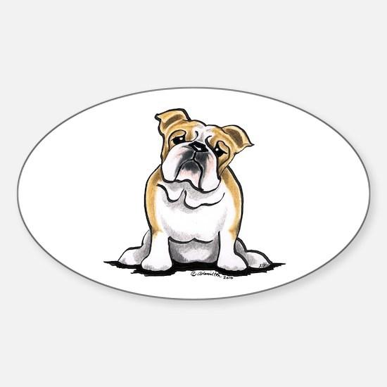 Cute English Bulldog Sticker (Oval)