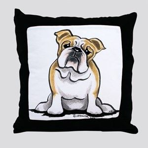 Cute English Bulldog Throw Pillow