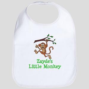 Zayde's Little Monkey Baby Bib