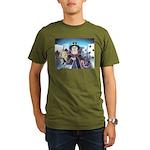 Queen of Hearts Organic Men's T-Shirt (dark)