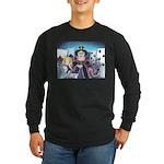 Queen of Hearts Long Sleeve Dark T-Shirt