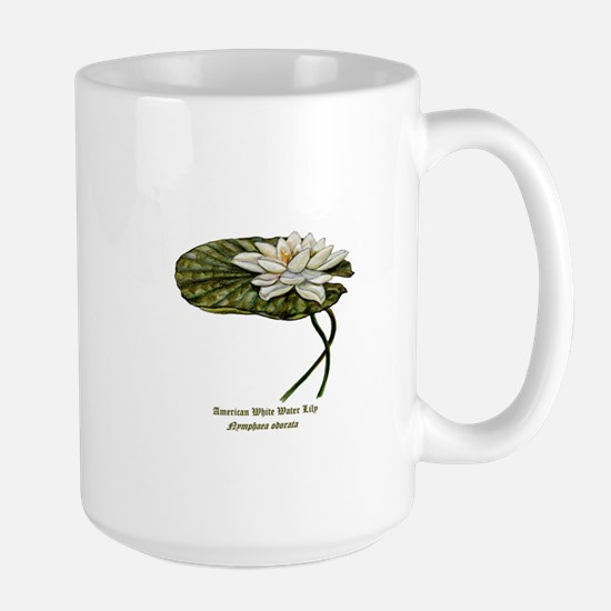 White Water Lily Large Mug