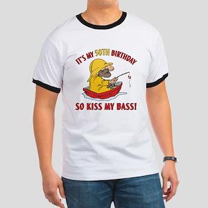 Fishing Gag Gift For 50th Birthday Ringer T
