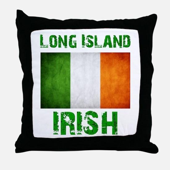 Long Island IRISH Throw Pillow
