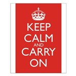 Keep Calm and Carry On Small Poster