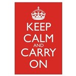 Keep Calm and Carry On Large Poster