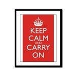 Keep Calm and Carry On Framed Panel Print