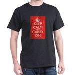 Keep Calm and Carry On Dark T-Shirt