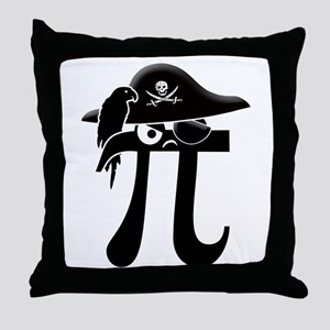 Pi-Rate Throw Pillow