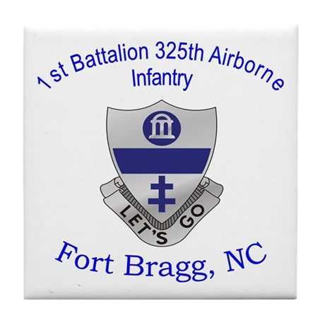 1st Bn 325th ABN Inf Tile Coaster