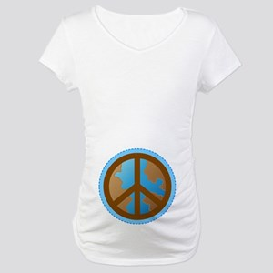 Peace Sign Earth Day Maternity T-Shirt